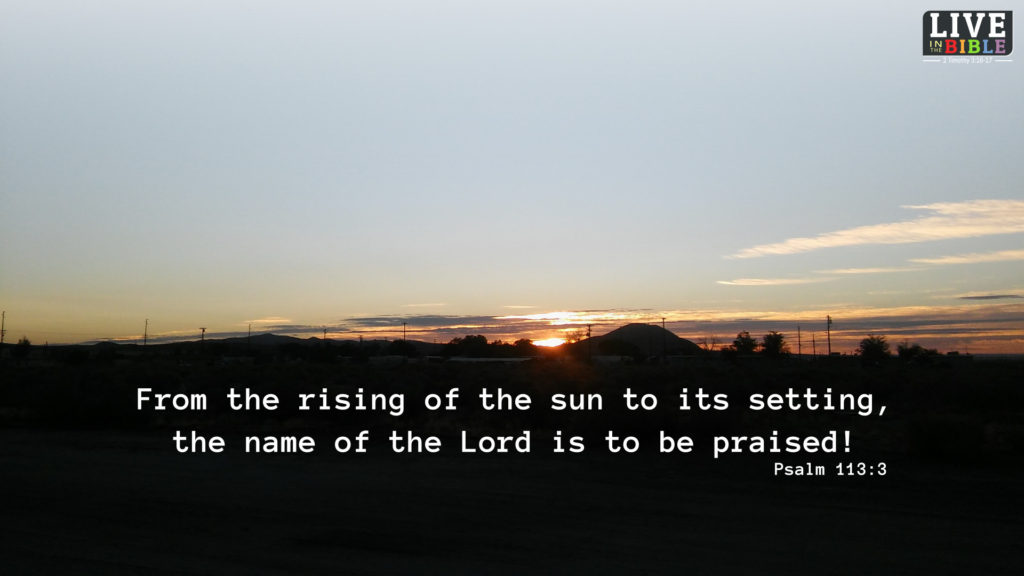 Praise God Each New Morning